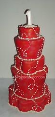 tiered swirl cake (two parts sugar) Tags: birthday county christmas winter wedding orange holiday cakes cake cupcakes los angeles cupcake swirl