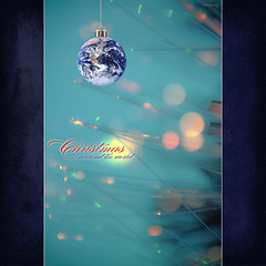 Christmas around the world (-clicking-) Tags: world lighting xmas blue light night poster design colorful peace dof graphic bokeh earth decorative joy decoration peaceful christmass miscellaneous joytotheworld colorphotoaward gingsinh trit 100commentgroup blinkagain bestofblinkwinners