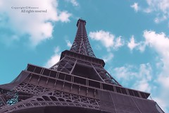 eiffel (NOURA - alshaya ) Tags: blue sky paris tower skyscraper high place eiffel