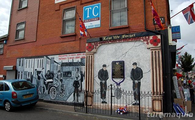 Muros e murais de Belfast - Irlanda do Norte
