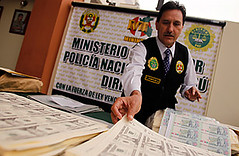 Counterfeiting in Peru