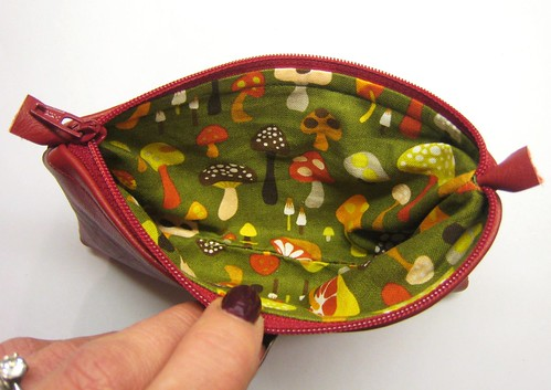 leather pouch inside