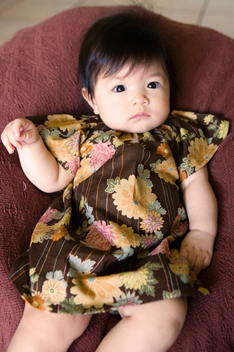 Baby Peasant Dress With Flutter Sleeves