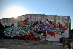 Flying South (Scotty Cash) Tags: art graffiti miami district flight basel primary 2010 nwk sueme wynwood 9lives