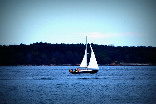 A Sailboat on Casco Bay, Portland, ME