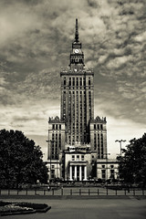 Palace of Culture and Science, Warsaw (Palac Kultury i Nauki) (bkang83) Tags: bw building tower culture poland science communist comm