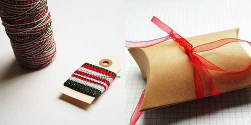 packagery - holiday twine and organza ribbon