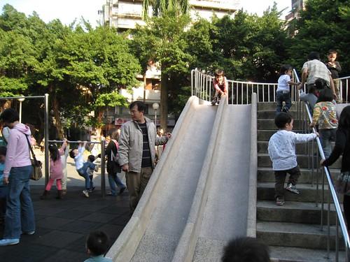 公園溜滑梯