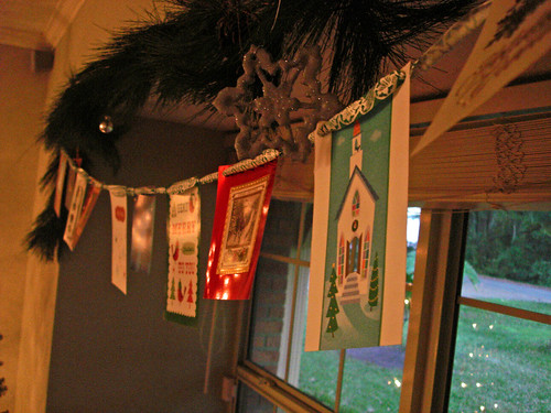 Christmas card garland