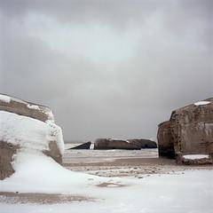 Bunkers (claus peder) Tags: film denmark kodak wwii mat bunker 124g analogue portra yashica atlanticwall 400nc yashinon vigs