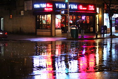 Rainy Night in Sunnyside 25 (Nick Mulcock) Tags: new york city nyc water rain bicycle night canon drops d side sunny queens rainy ni sunnyside 60 60d flickraward