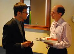 Paul Dunay interviewing Chip Heath at MarketingProfs B2B Conference