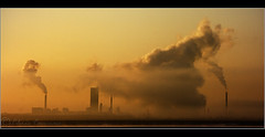 Industry. (Digital Diary........) Tags: chimney mist industry sunrise industrial smoke atmosphere hale burnoff widnes chrisconway