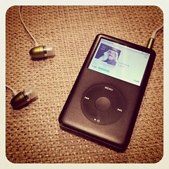 I classic (U_SF) Tags: black classic set square mac media ipod hand head song free rubber headset squareformat  handfree iphone4  iphoneography instagramapp uploaded:by=instagram
