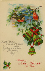 New Year Chimes (The Texas Collection, Baylor University) Tags: vintage newyear postcards newyears symbols