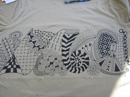 Zentangle T-shirt #2 (front)