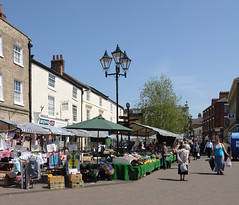 Market Day 1 (tjsphotobrigg) Tags: markets brigg lincolnshire people colour buisness shopping stalls england uk spring sunshine bluesky
