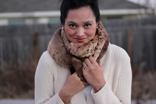 DIY fur scarf: doubled up