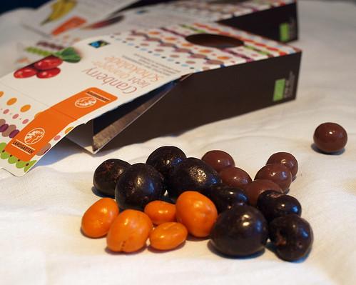 Bunte Schokolinsen mit Fruchtgehalt