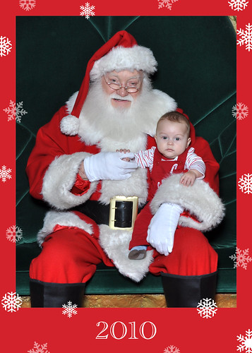 Judah with Santa