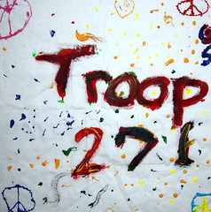 Girl Scout Troop 271 & Clays Mill Elementary School in Lexington, KY (International Fiber Collaborative, Inc.) Tags: school mountain newyork london art home water rain kids stars visions washington rainbow community war paint flickr peace anniversary kentucky space flag unitedstatesofamerica dream conservation felt save nasa canvas explore health scouts council leader express reach olympics agriculture breastcancer elementary humans global facebook discover sochi saturnvrocket presidentobama internationalfibercollaborative thedreamrocket