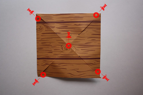 Step 6: Place a Pinhole in Every Other Corner