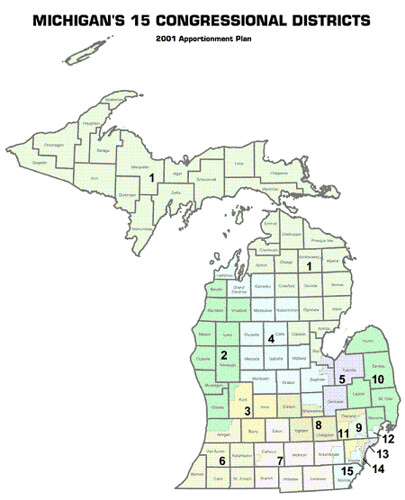 Michigan Congression Districts Current 1