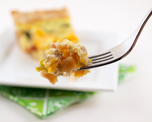 Boudin and Green Pepper Quiche