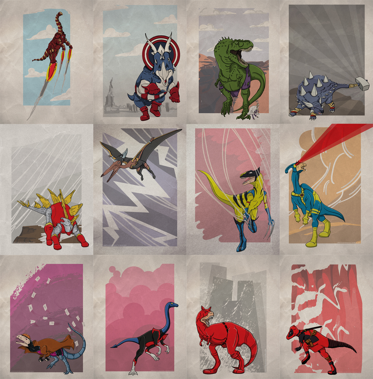Superhero Dinosaurs Full Set Updated
