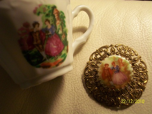 Teacup and Brooch