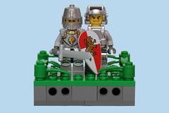 [115/365] Knights in Shining Armor (pasukaru76) Tags: lego knight engineer kingdoms bodyarmor canon100mm powerminers lionknight minifig365