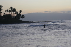 Maui Sunset (Chazz Gallagher) Tags: sunset moon island volcano hawaii cow surf pacific surfer maui surfing blowhole tropical aloha honolua ramdass napilikai