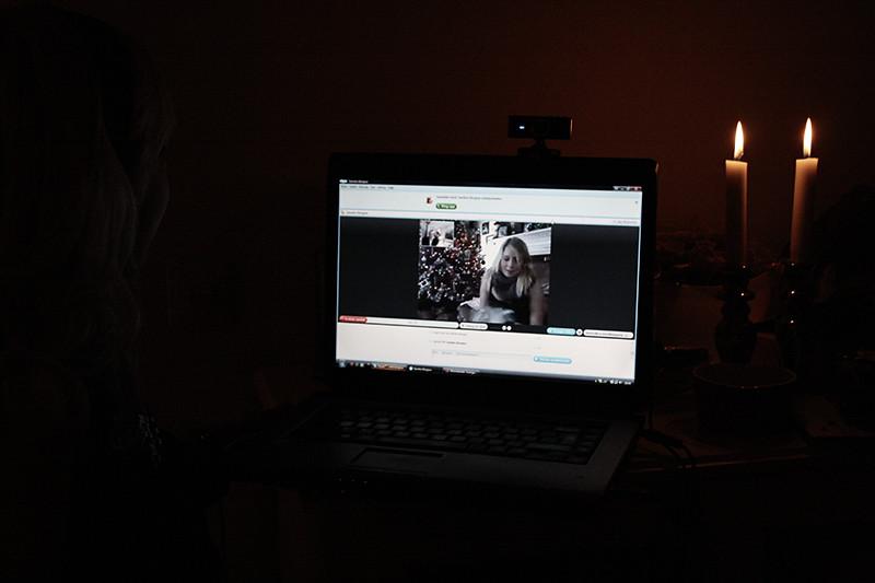 Skype med Sandra
