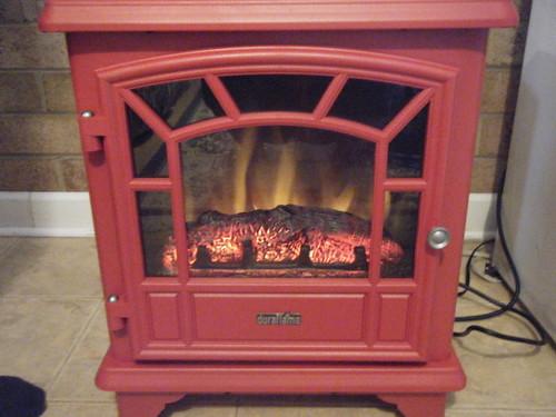 electric fireplace for Karen & David