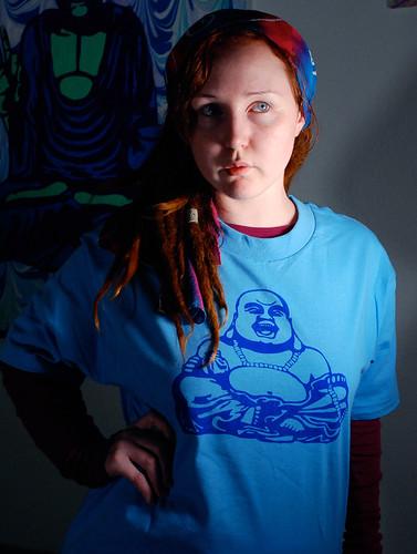 Buddha silkscreen print shirt