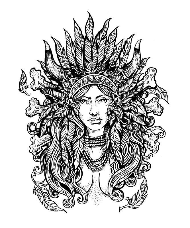 adult coloring pages native american - photo#2