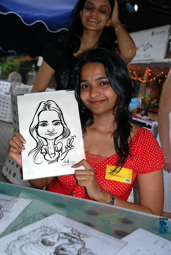 Caricature live sketching for VISA Beach Party 2010 -20