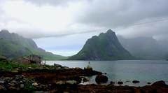 Reine, Norway (BumbyFoto) Tags: ocean sea mountains norway landscape norge cliffs norwegian lofoten reine leknes