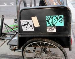 On the Lower East Side (LoisInWonderland) Tags: newyorkcity streetart graffiti sticker lowereastside