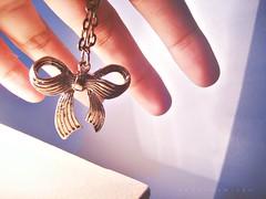 FIFTY FREAKIN TWO (Wanda (Moved! Add my new account)) Tags: necklace wanda hand fingers ribbon ribbonnecklace wandadomingo