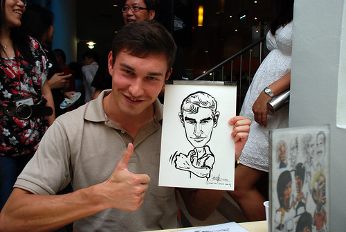Caricature live sketching for BAT White Christmas Party 2010 - 31