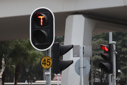 Signals on the light rail at Yuen Long
