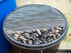 la platja en un pot (aiguaclara) Tags: azul mar agua barco playa bleu blau aigua roca platja piedras vaixell pedres