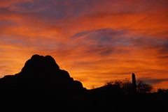 . (desertwatercolors) Tags: tucson az dwc sombreropeak desertwatercolors azwsunset