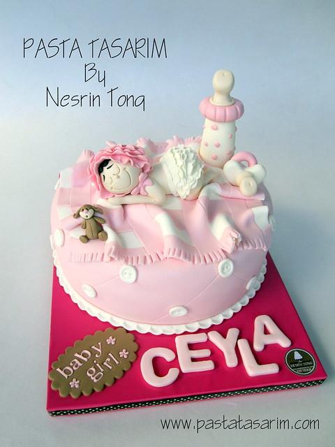 BABY SHOWER CAKE - BABY GIRL CEYLA