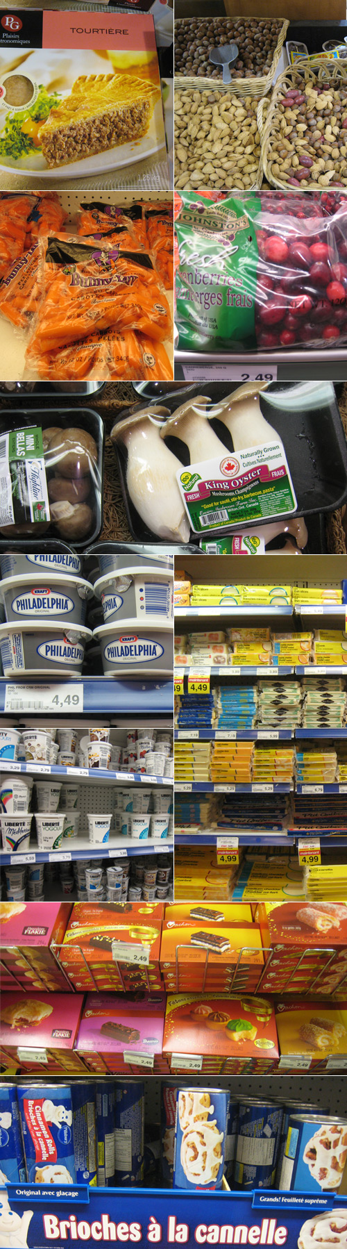 Photos de produits dans un Provigo au Québec