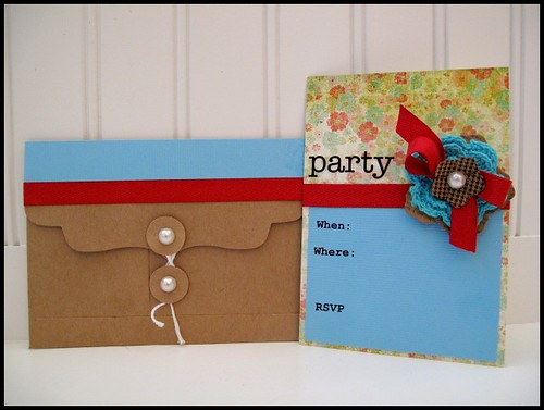 Glue Dots Party Invite