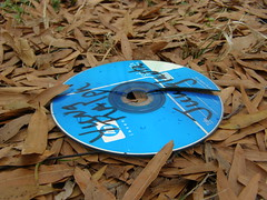 Not what it was cracked up to be, apparently (Jer*ry) Tags: music trash media cd ripped litter disk disc songs recordings
