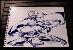 Sketch'time Rems (GhettoFarceur) Tags: sketch bleu frais bic gland rems ghettofarceur lesfemmesrondesontaussiledroitdtrefashion