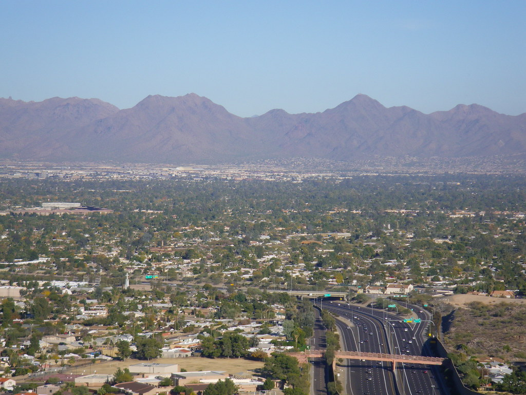 Phoenix Mountain Preserve - view to east
